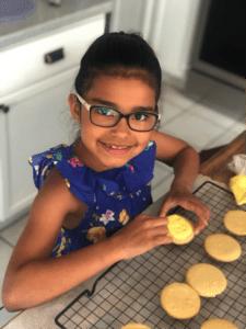 Maia making cookies
